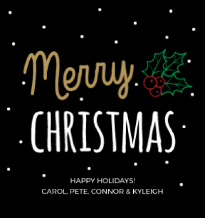 Chalkboard Merry