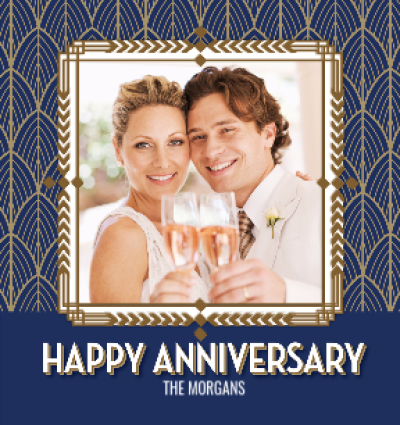 Deco Diamond Frame Happy Anniversary Photo