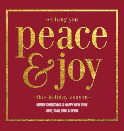 Gold Lustre Peace Joy