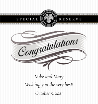 Personalized Congratulations Wine Gifts